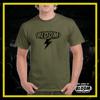 T-Shirt Fulmine Verde Militare logo Nero UOMO