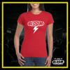 T-Shirt Fulmine Rossa logo Bianco DONNA