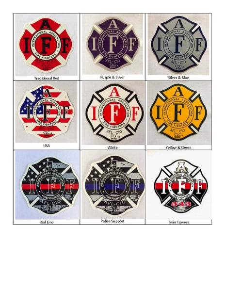 "Image of 4"" Vinyl IAFF Decals"