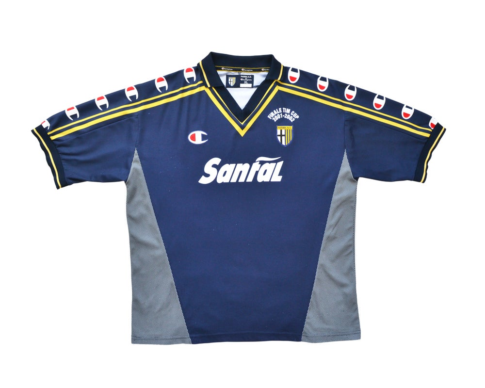 Image of 2001-02 Champion Parma Coppa Italia Final Away Shirt XL