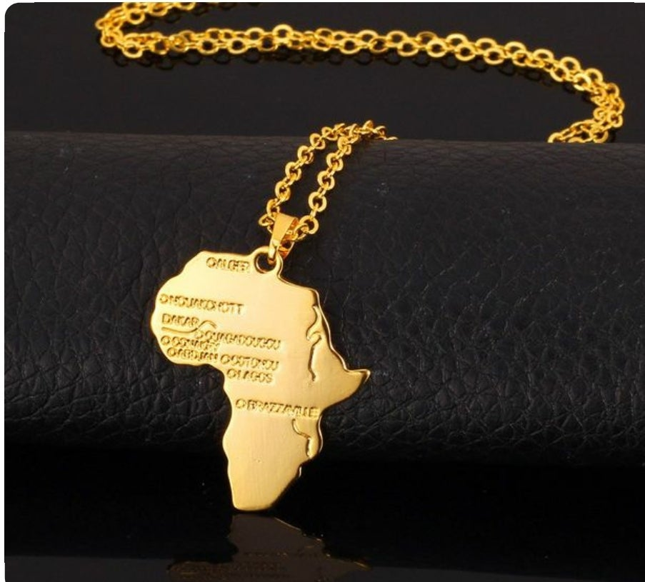 Image of African pendant chain