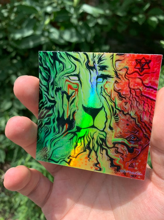 Image of Roots Lion Holographic sticker