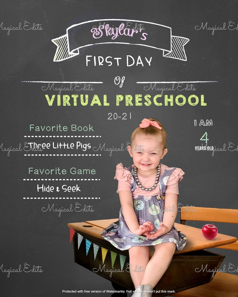 Image of Chalk Board - Back to School Edit (virtual)