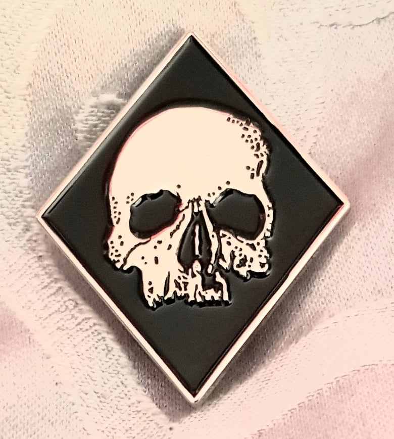 Image of Deathcult limited edition shaped enamel pin