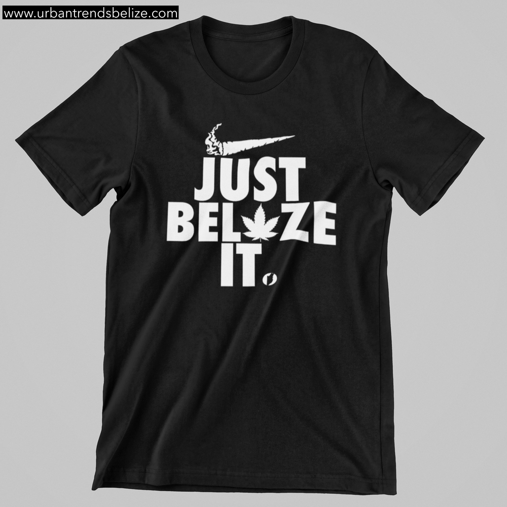Image of BELIZE - JUST BELAZE IT TSHIRT BLACK W/WHITE
