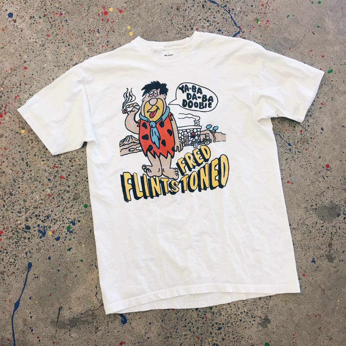 Image of Original 1995 Fred Flintstoned Grateful Dead Tee.