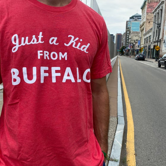 Image of Just a Kid From Buffalo Tee Heather Red