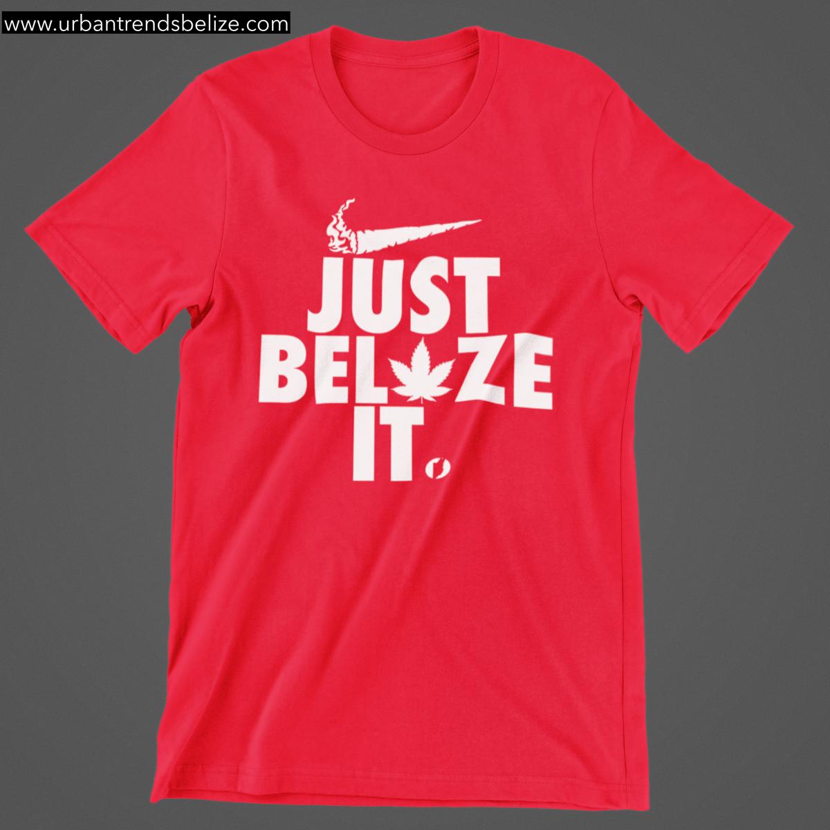 Image of BELIZE - JUST BELAZE IT TSHIRT BLACK W/WHITE