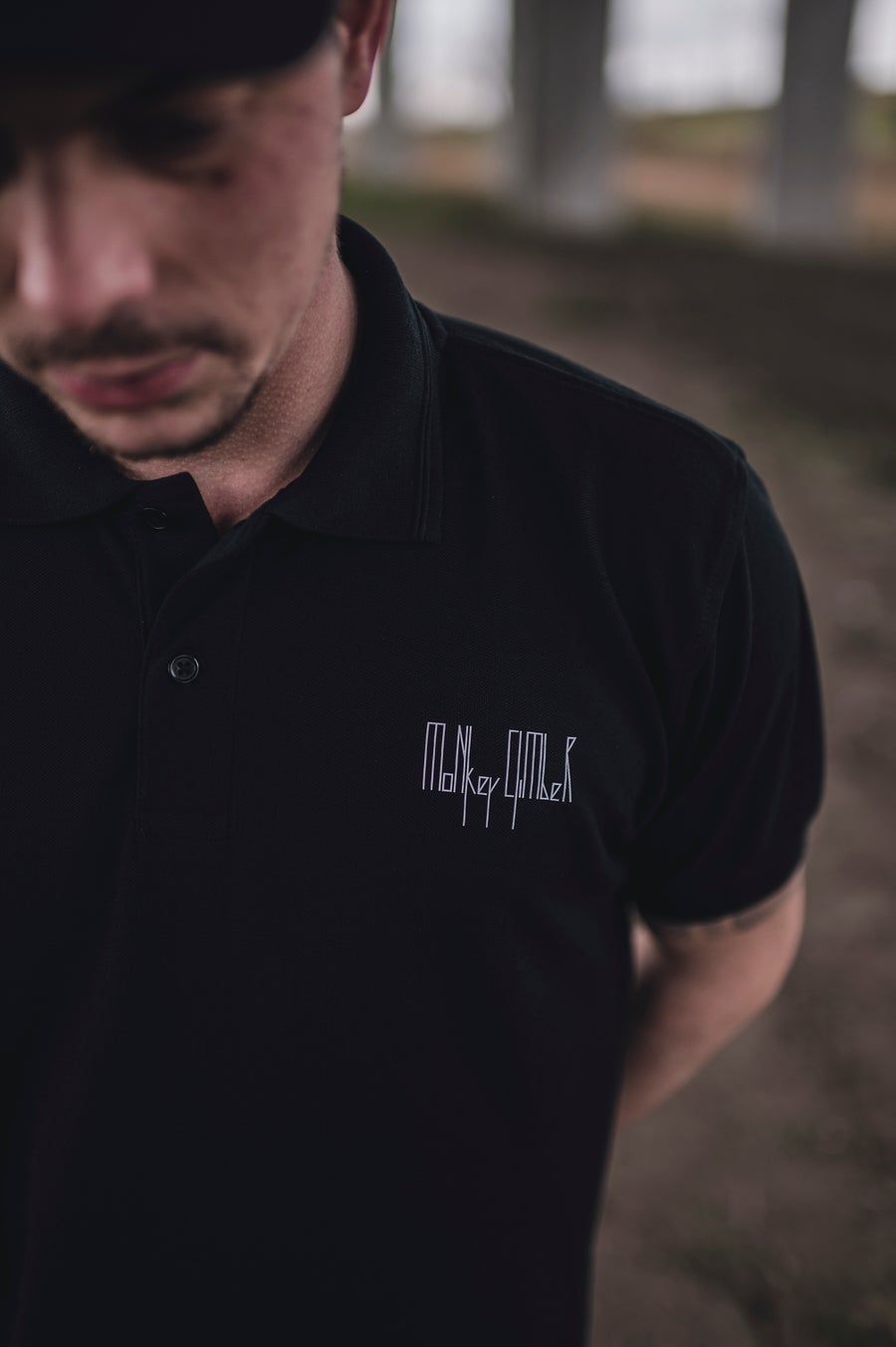Image of Monkey Climber CPTL Polo Shirt I Black