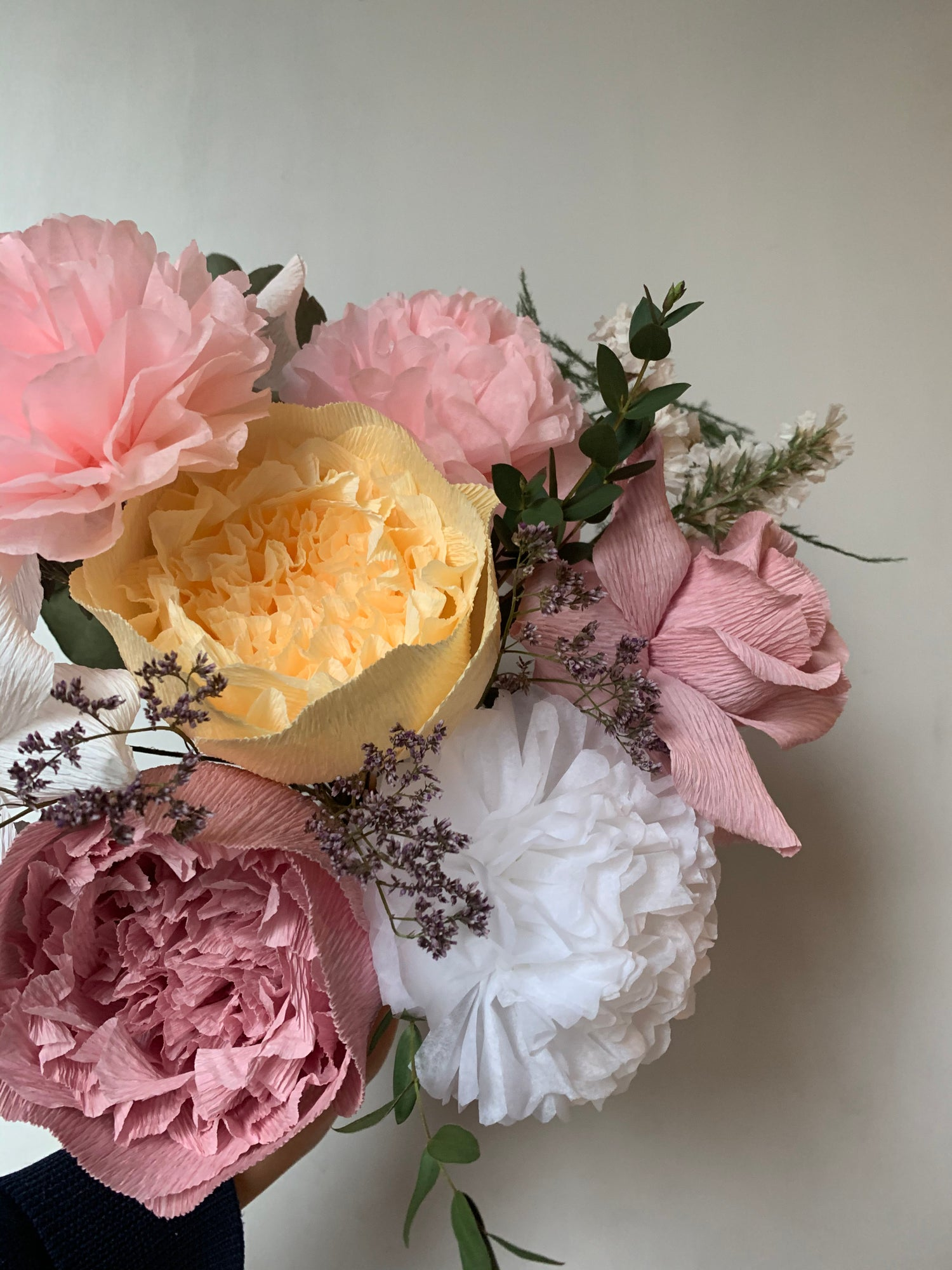Image of Romantic Bouquet - Peonies, Roses & Pom Pom