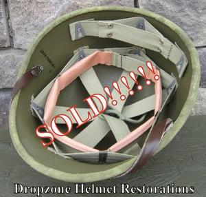 Image of WWII Repro Hawley M-1 Helmet Liner. HBT Webbing (B)