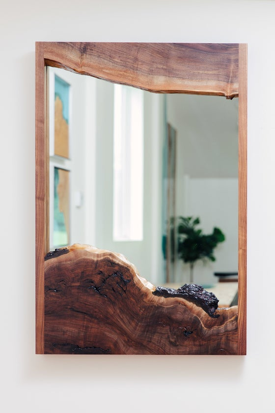 Image of black walnut mirror