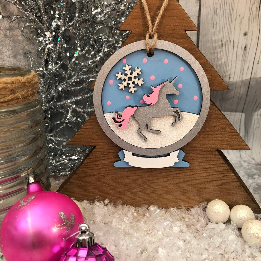 Image of Unicorn Snowglobe Decoration