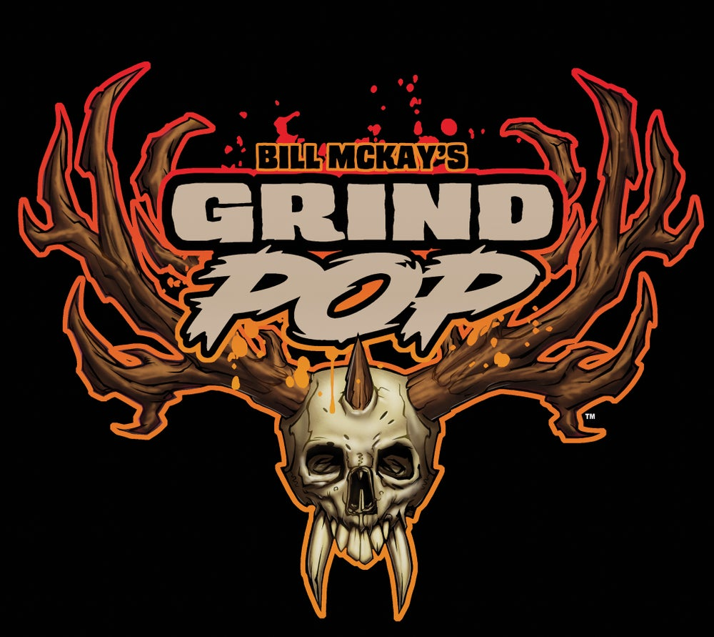 Image of Grind POP Antler Skull T-shirt
