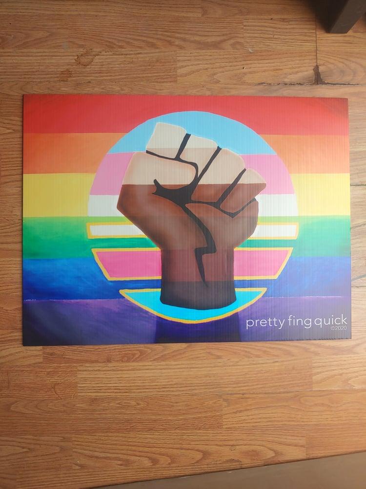 Image of Equality Art Yard Sign