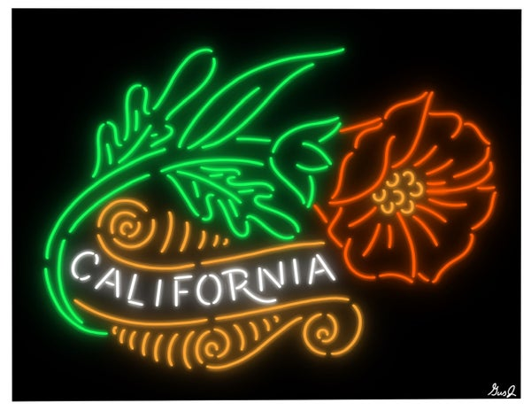 "Image of ""California Neon Poppy"" 8.5x11 inch print"