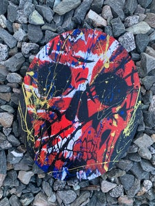 """Image of NEHS SKULL: """" CAPT GOLDIE RED """" by Officialnehs"""