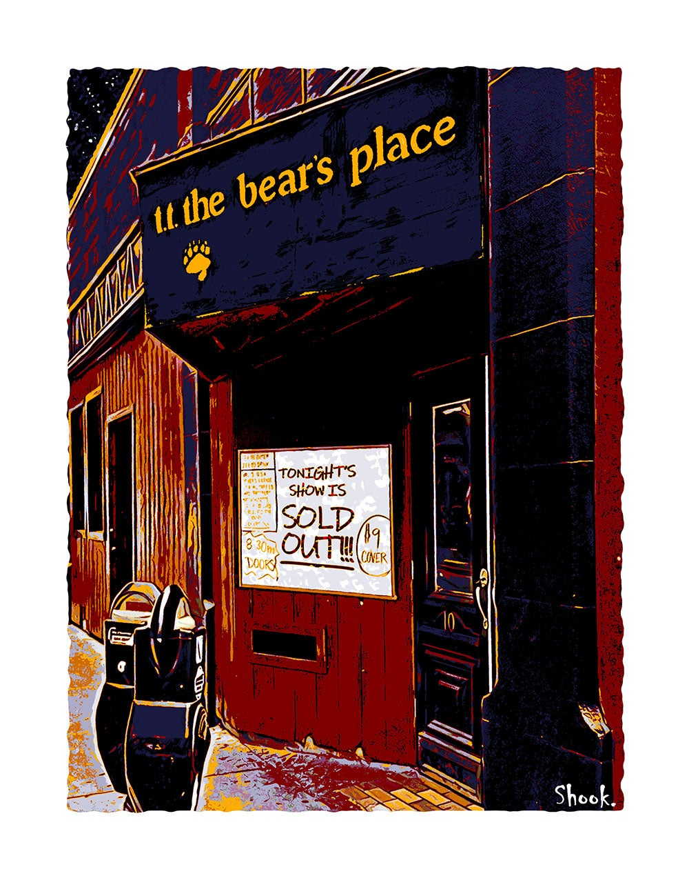 "TT The Bear's Cambridge Giclée Art Print - 11"" x 14"""