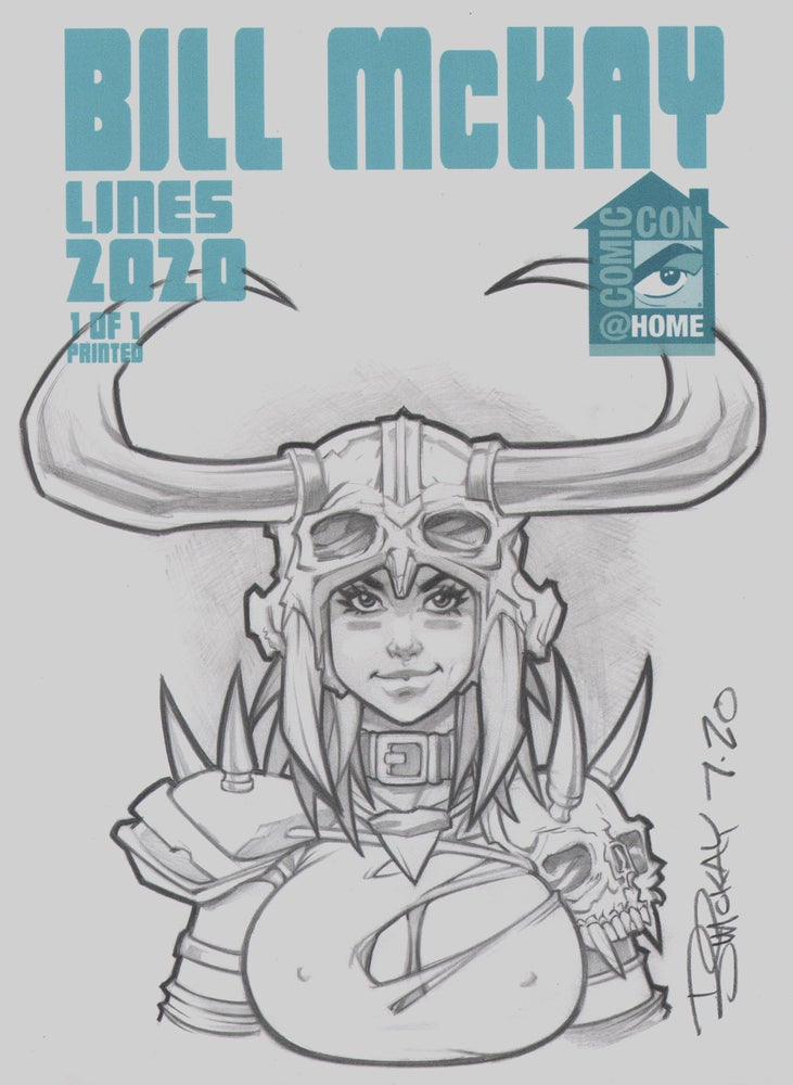 Image of Lines  2020 SDCC @ Home Exclusive 1/1  Sketch Variant by McKay