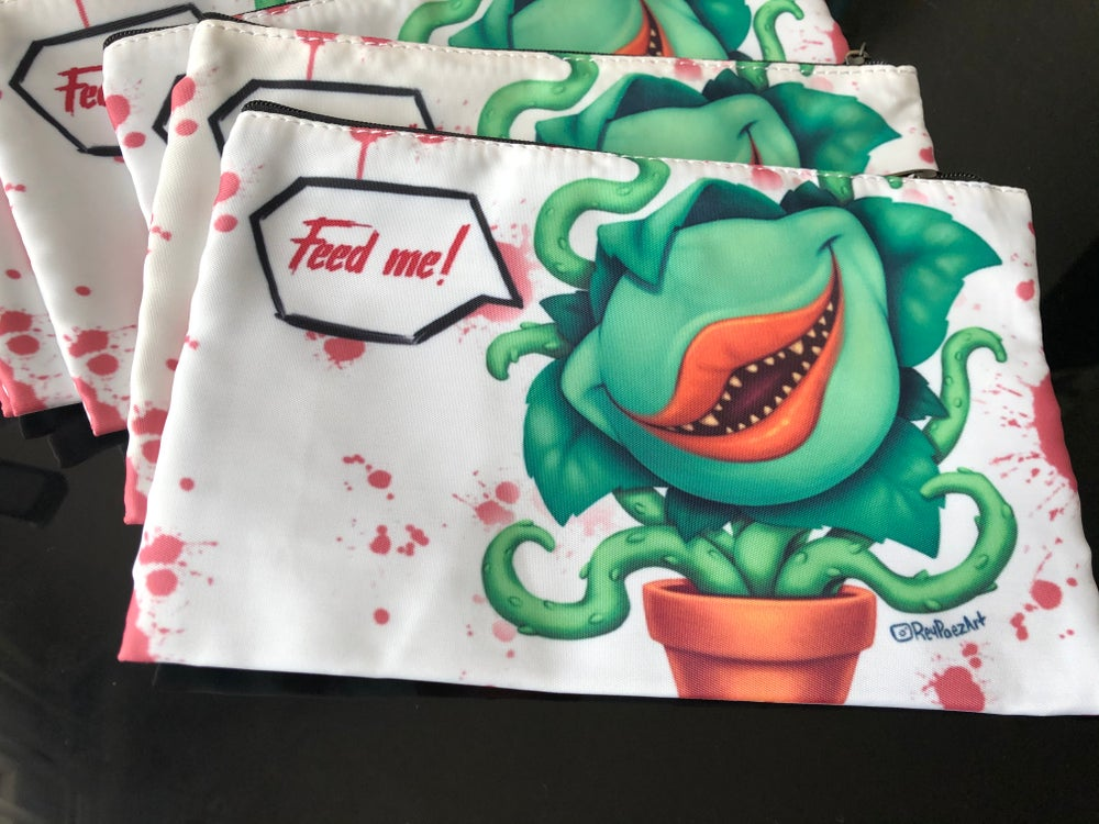 Feed me (5x8 zipper pouch)