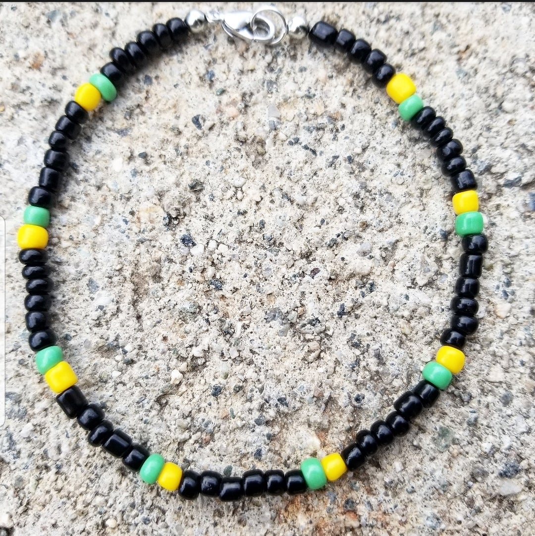 Image of Jamaica Beaded Ankle Bracelet