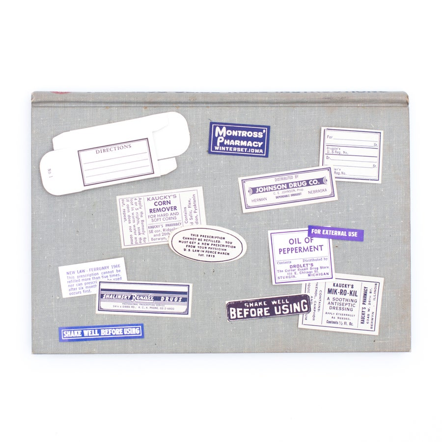 Image of Medicine Box with Mini Pharmacy Labels