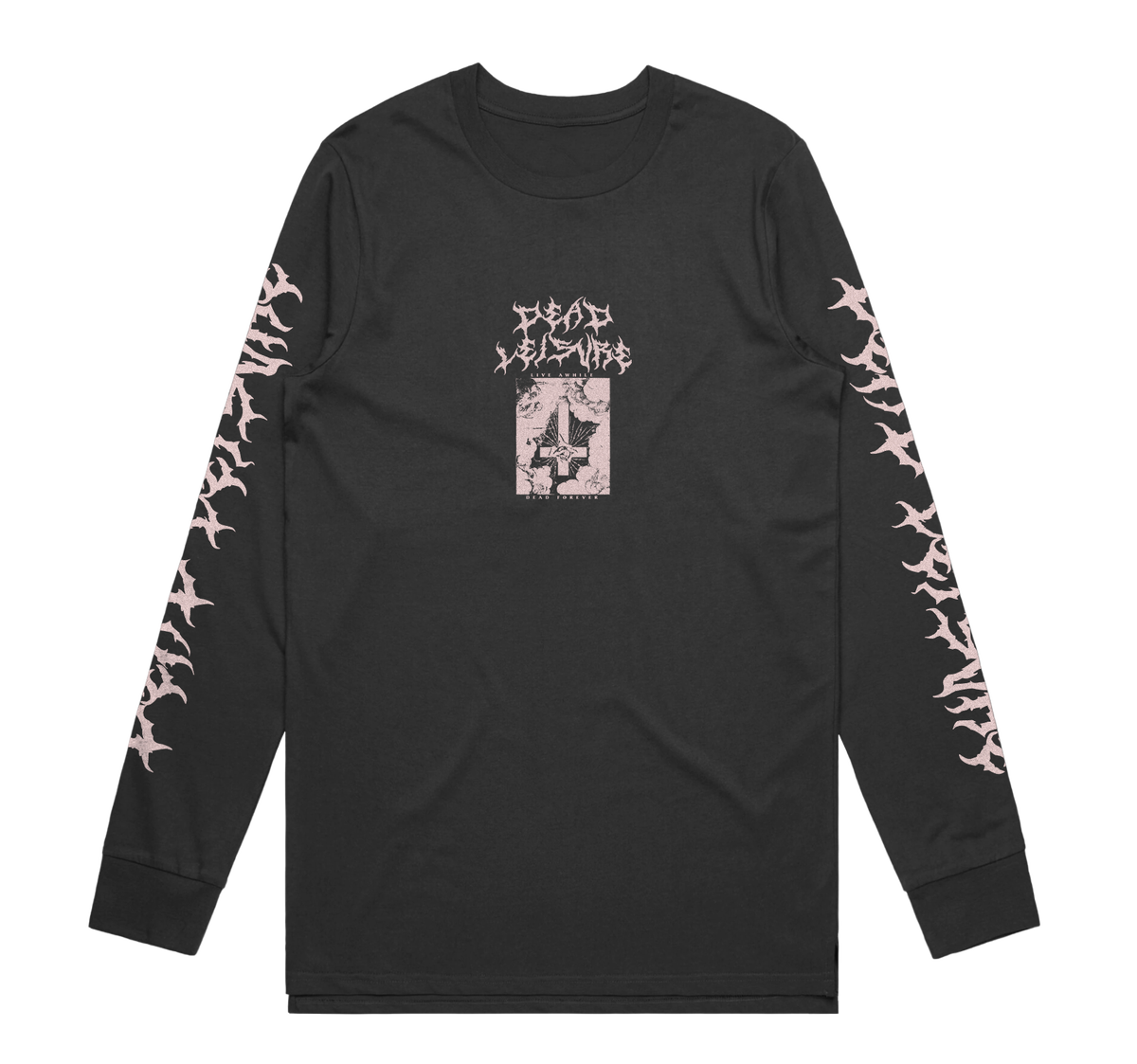 Dead Forever Long Sleeve Tee - Charcoal