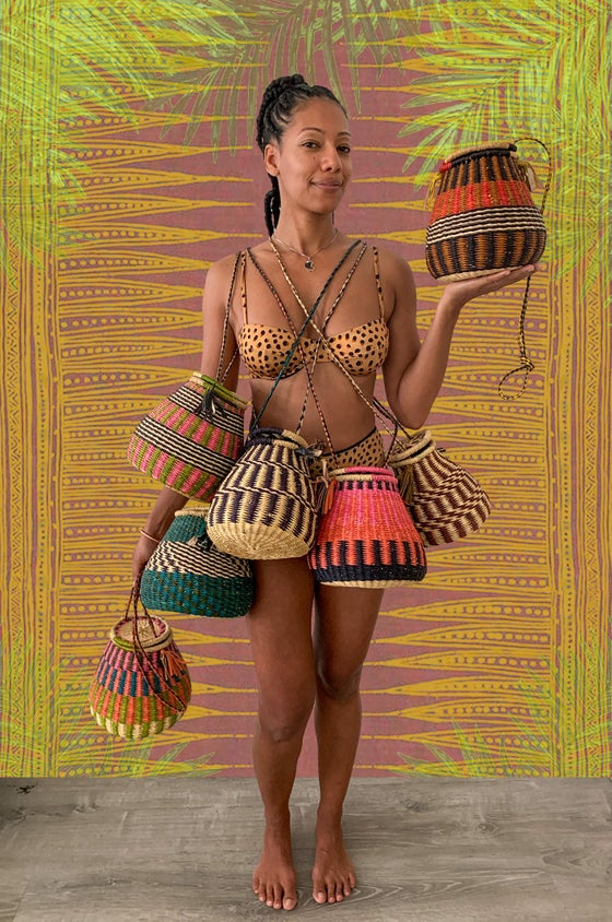 Image of •isa• woven belly bags