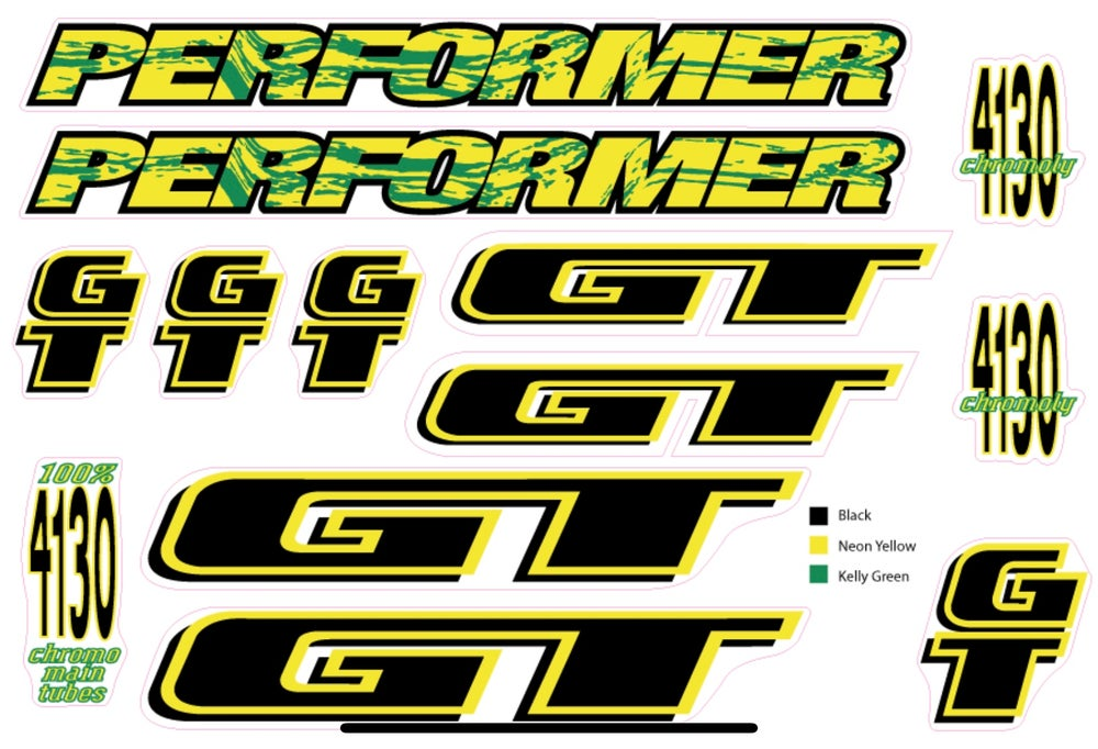 Image of GT Performer 1994 set green/yellow
