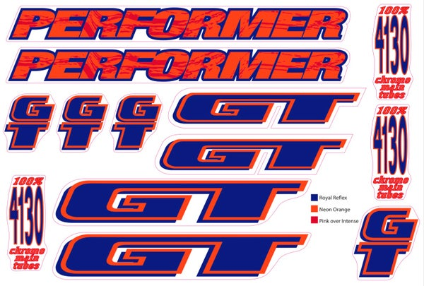 Image of GT Performer 1994 blue/neon orange