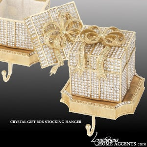 Image of Crystal Gift Box Stocking Hanger