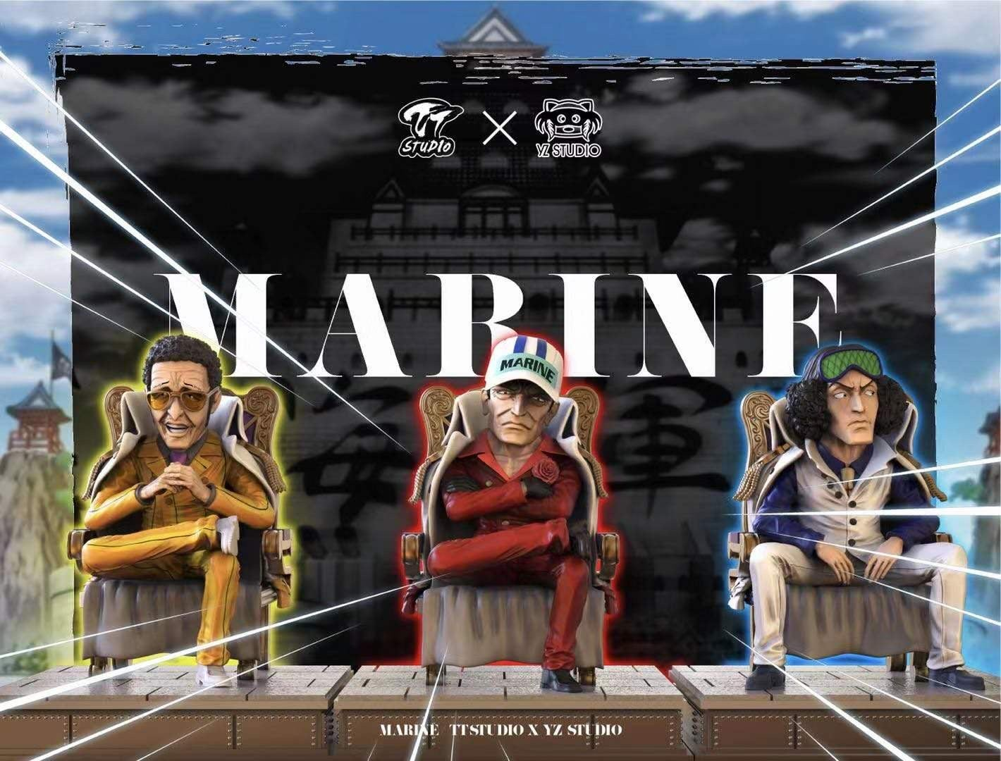 Image of [Pre-Order]One Piece YZ & TT Studio Marine Admiral Set Resin Statue