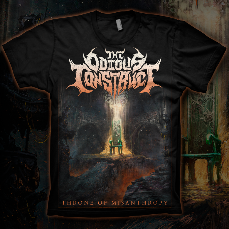 Image of THE ODIOUS CONSTRUCT - Throne of Misanthropy T-Shirt