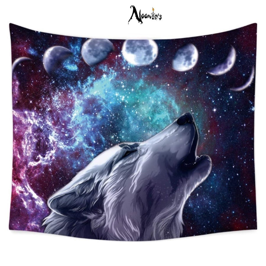 Image of Howling at the moon tapestry