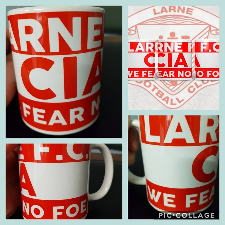 Larne, Football, Casuals, Ultras, Fully Wrapped Mugs. Unofficial.