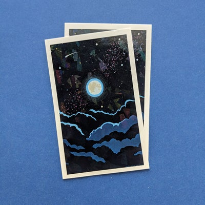 Image of Holographic Magical Night Sky Stickers