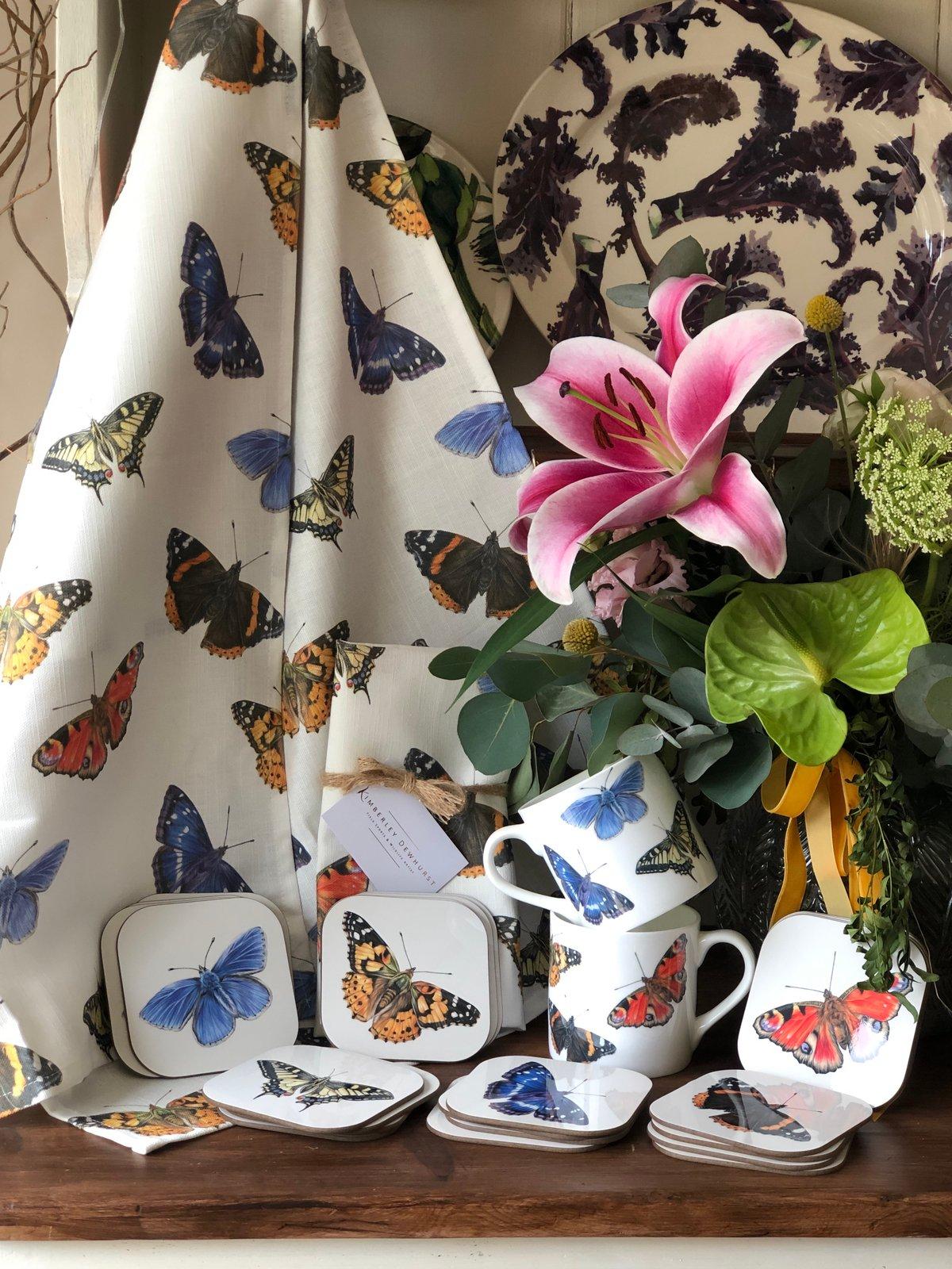 Image of 'Butterfly' Tea Towel
