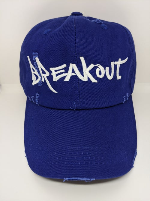"Image of ""Breakout"" Dad Hat (orange, red, camo, royal blue)"
