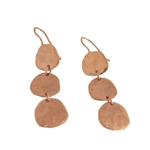 Image of Lola triple disc earrings