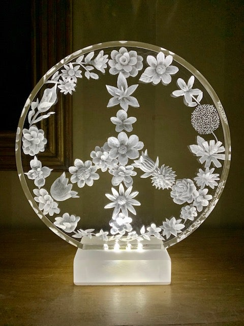 Image of Floral Peace Lamp