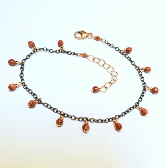 Image of Mix-metal Goldstone Bracelet