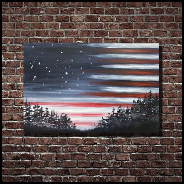 Image of STAR SPANGLED SKY (3x2ft canvas print)