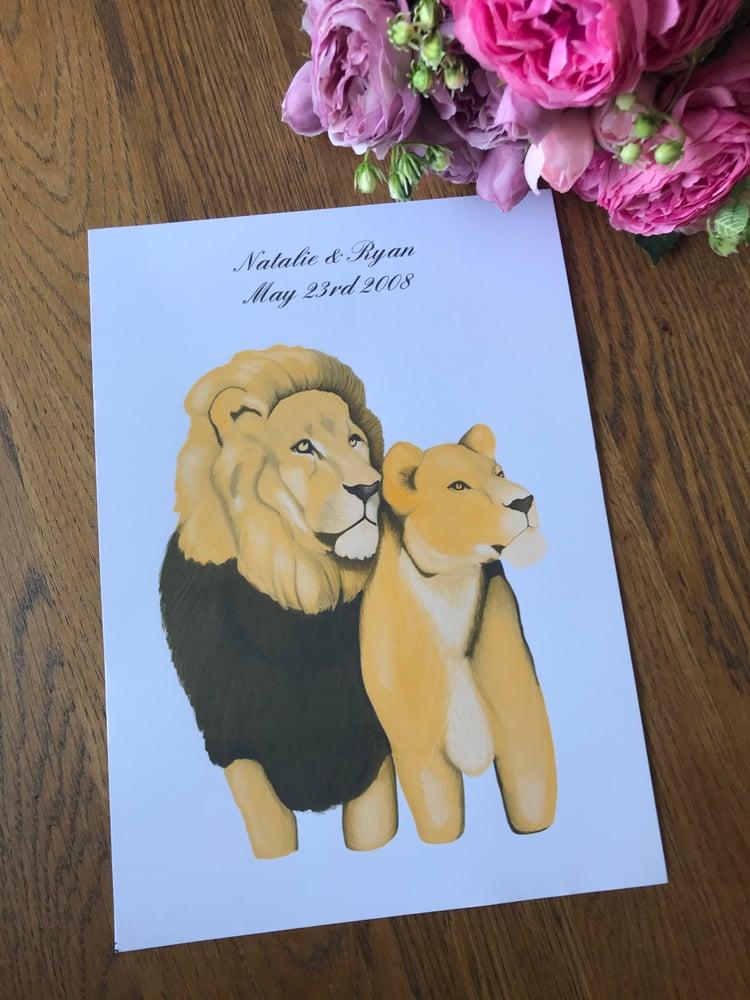 Image of King & Queen Art Print