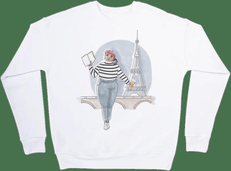 Image of Paris Bookworm Crewneck Sweatshirt