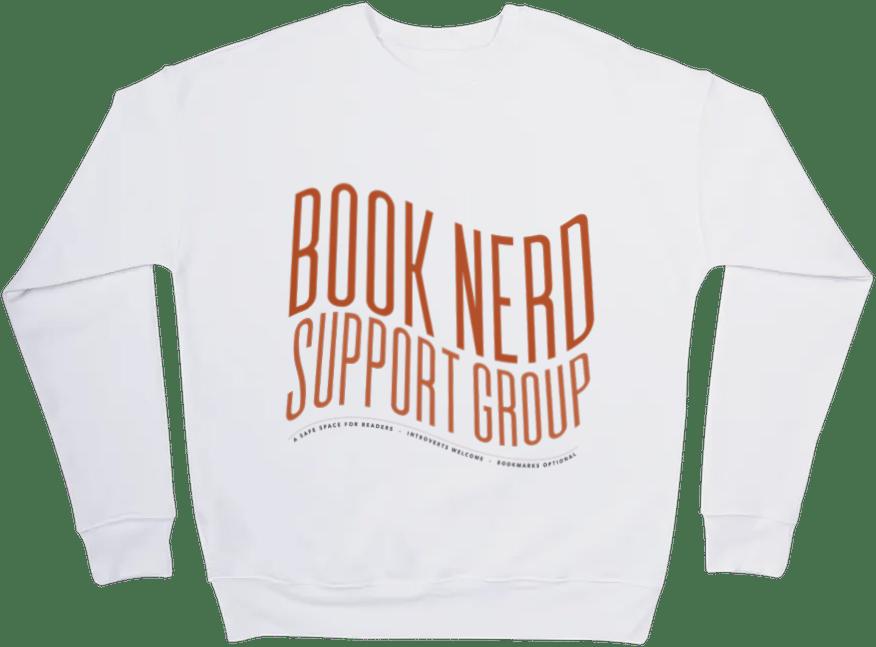Image of Book Nerd Support Group Crewneck Sweatshirt