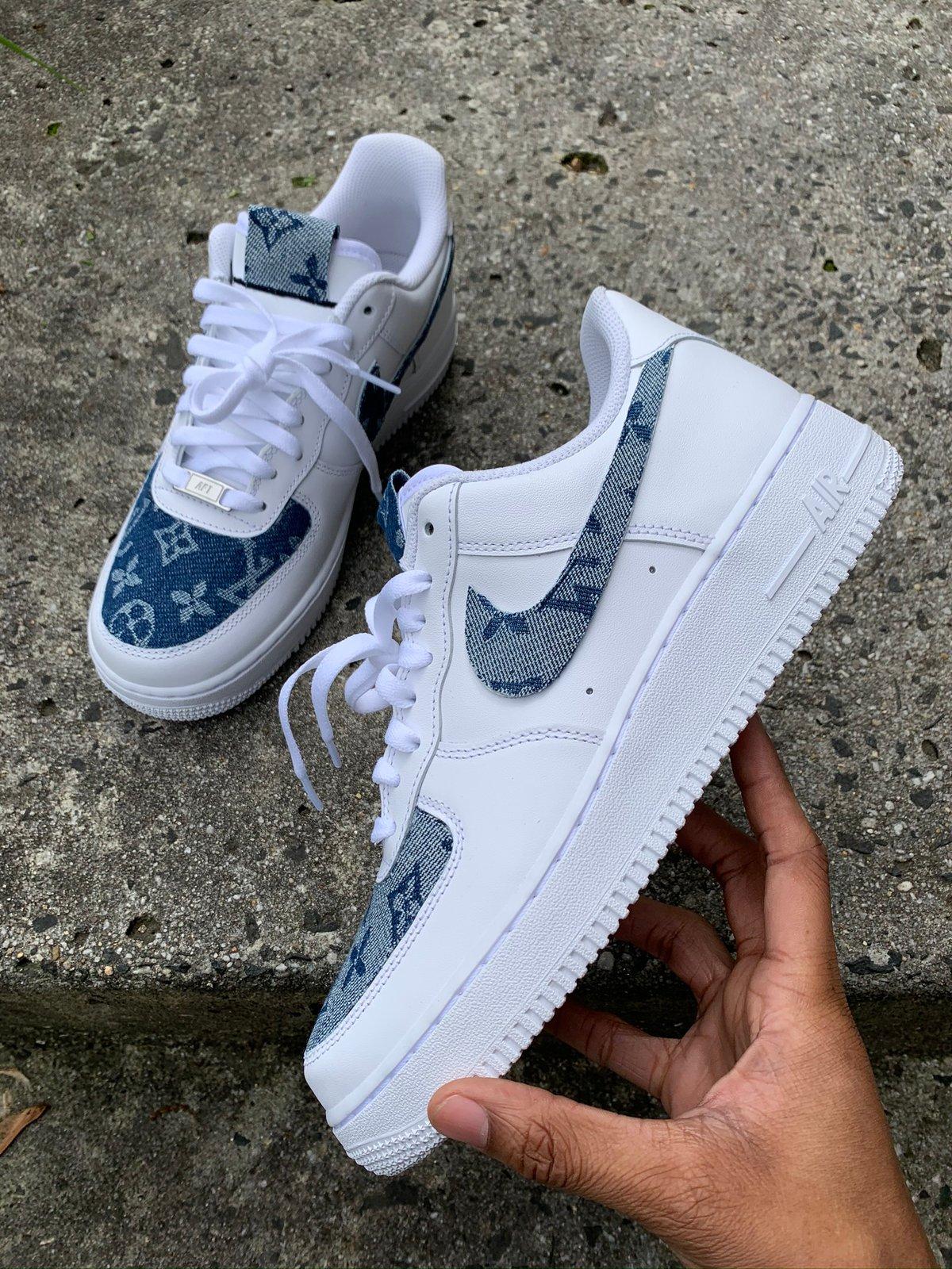 blue louis vuitton air force ones