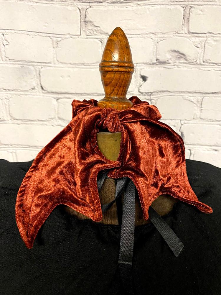 Image of Cooper  Velvet  Bat Wing Scrunchie