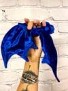Royal Blue Velvet  Bat Wing Scrunchie
