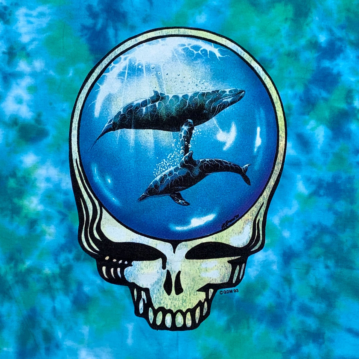 Original Vintage Grateful Dead 1993 Dolphins Stealie Tie Dye!! XXL
