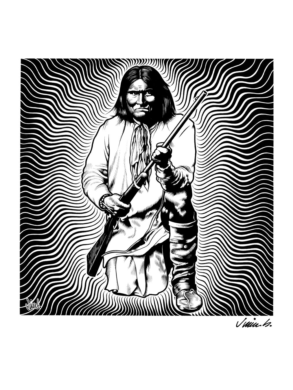 Image of GERONIMO poster print